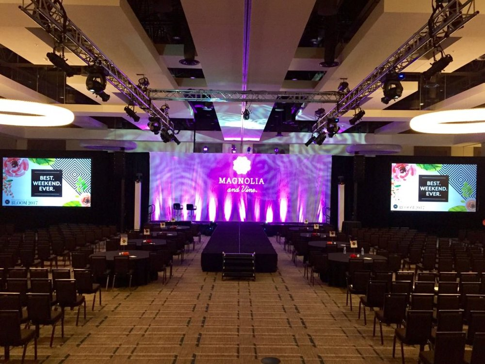 Picture of AV for You set up for Magnolia and Vine Bloom 2017 Conference at JW Marriott Mall of America