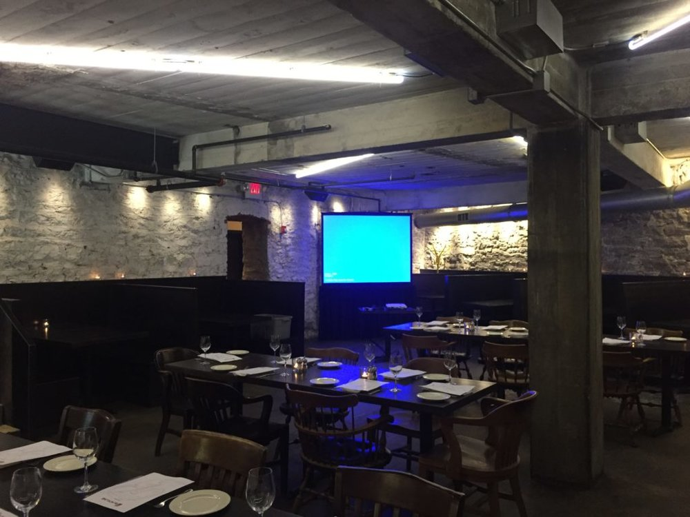Picture of AV for You Projector and Screen at Burch Restaurant in Minneapolis