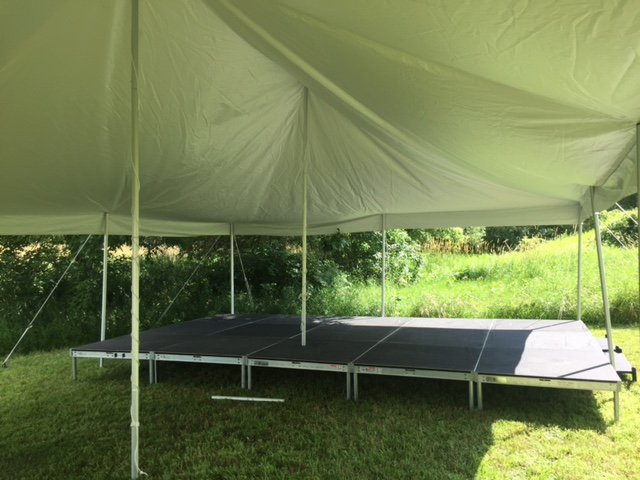 Picture of AV for You Outdoor Stage for a Wedding in Webster Minnesota