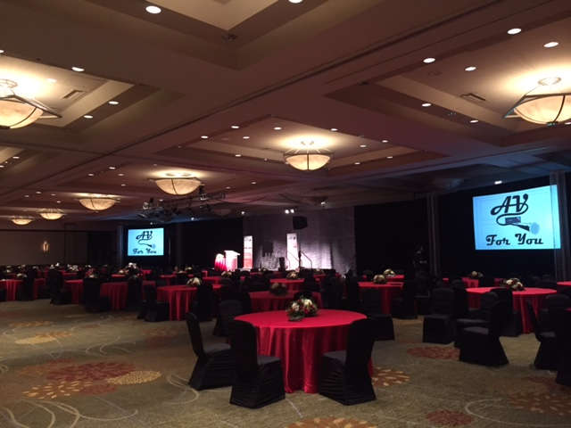 Picture of the AV for You set for the Twin Cities Business Magazine's Hall of Fame event at the Hyatt Regency Minneapolis