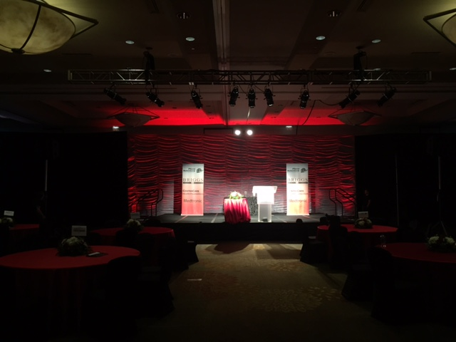 Picture of the AV for You set for Twin Cities Business Magazine's Hall of Fame event at the Hyatt Regency Minneapolis