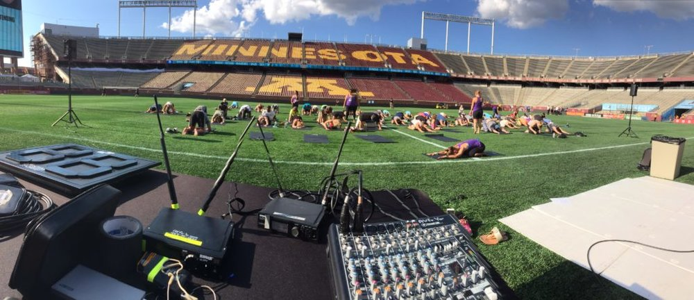 Picture of AV for You audio for Yoga at TCF Bank Stadium with Minnesota United FC