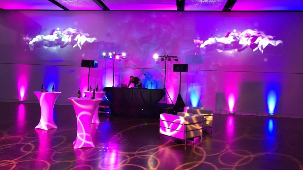 Picture of the AV for You set up of Wedding DJ Audio and Lighting at The Blaisdell Manor in Minneapolis