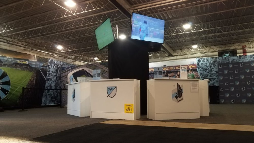 Picture of AV for You monitors with Minnesota United FC at the State Fair