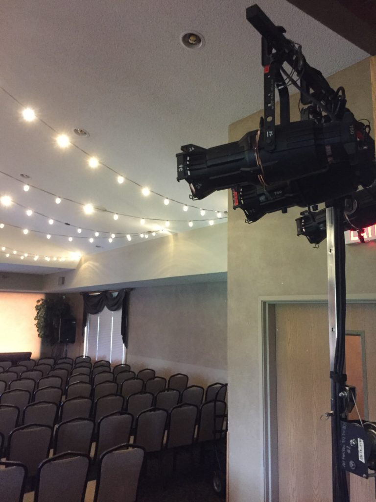 Picture of AV for You Stage Lights at Oak Marsh Country Club