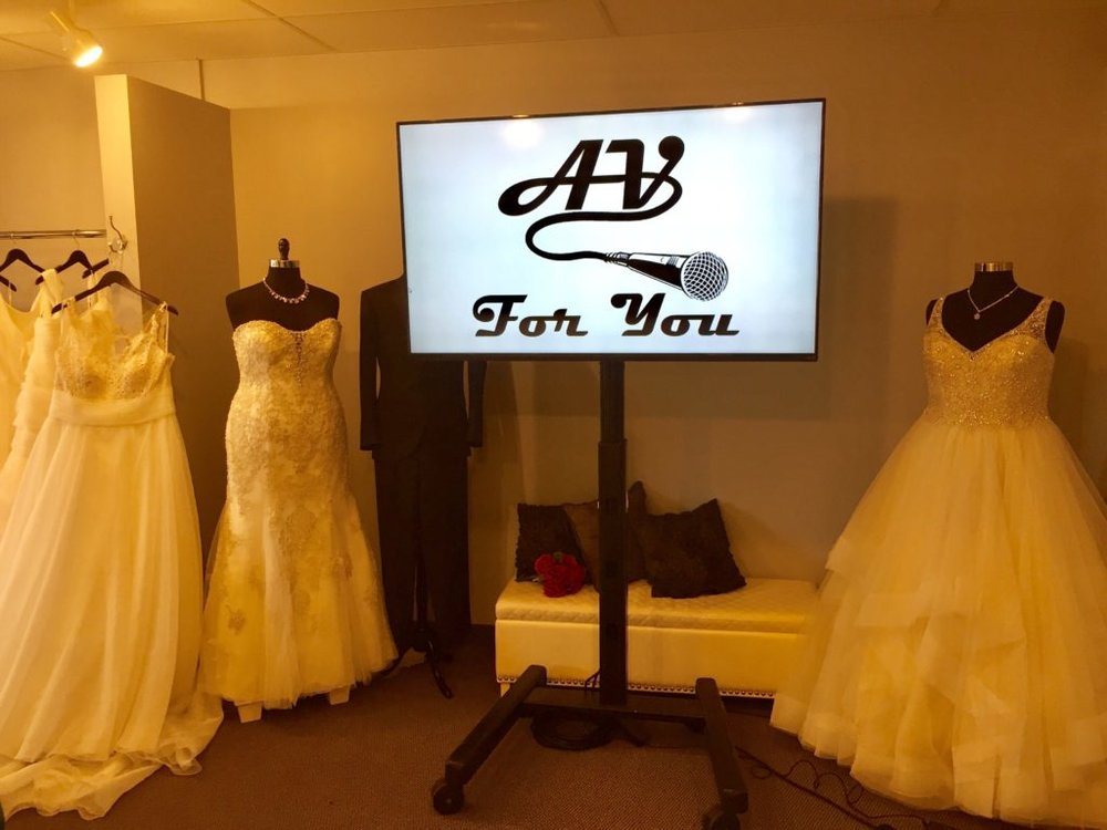 Picture of an AV for You LED Monitor at Luxe Bridal Couture