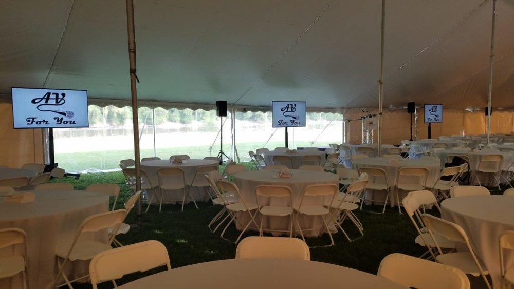 Picture of AV for You Tent Event on the Mississippi River