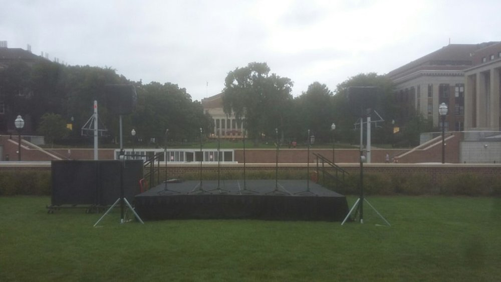 Picture of AV for You stage and audio for an Outdoor Concert at Coffman Union