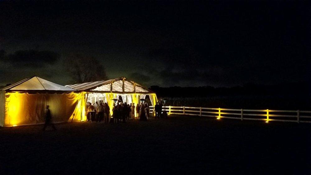 outdoor wedding in hamel audio visual equipment rental company