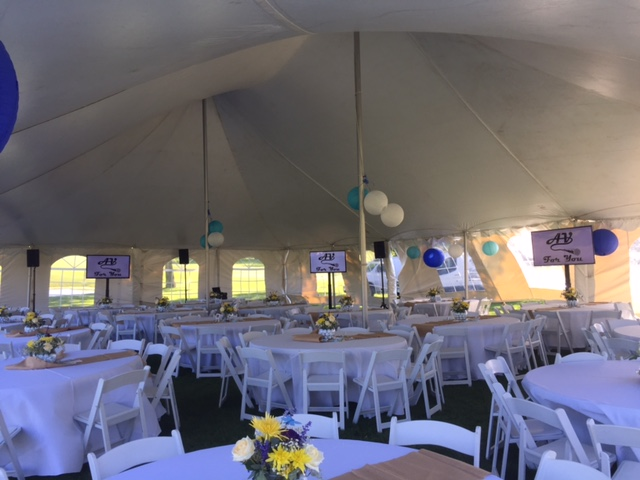 Picture of AV for You Tent Event at Deer Run Golf Club
