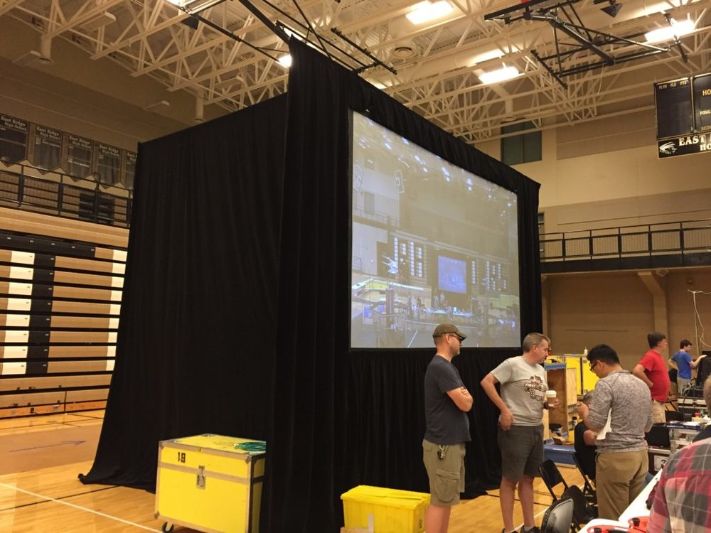 Picture of AV for You Projection Screen in a Gymnasium