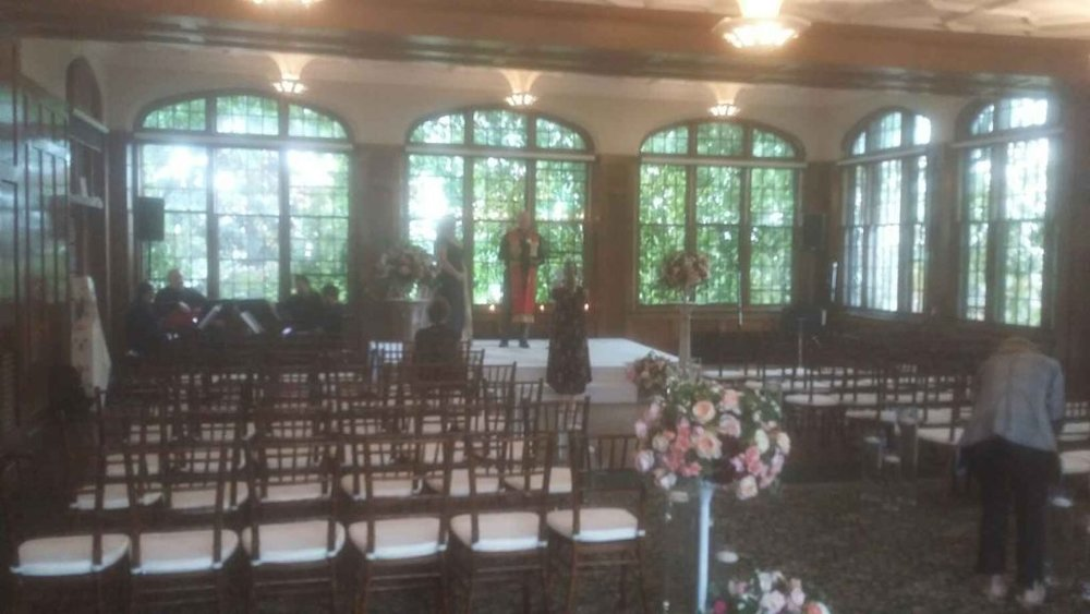 Picture of AV for You Wedding Ceremony at The University Club