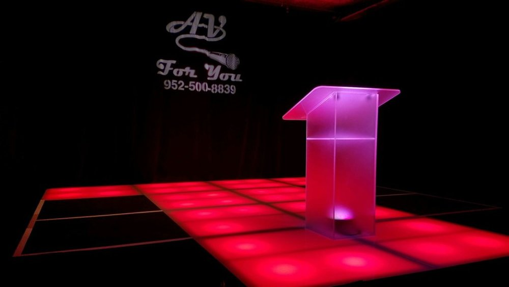 Picture of AV for You Frosted Stage Decks