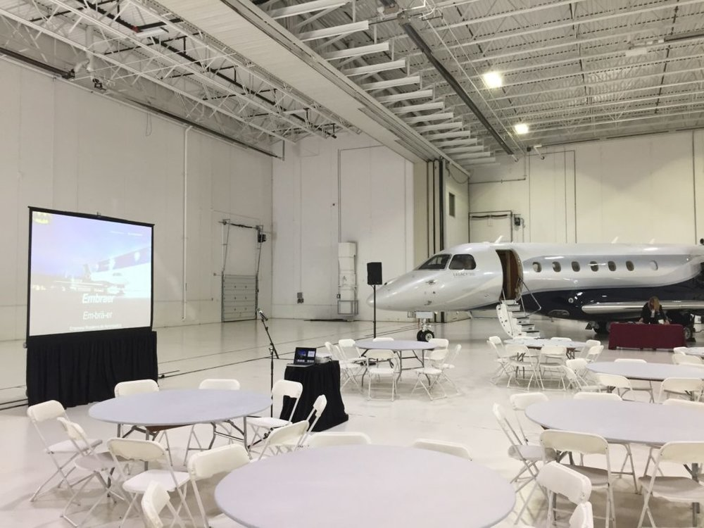 Picture of AV for You audio visual in an Airplane Hangar in St. Paul