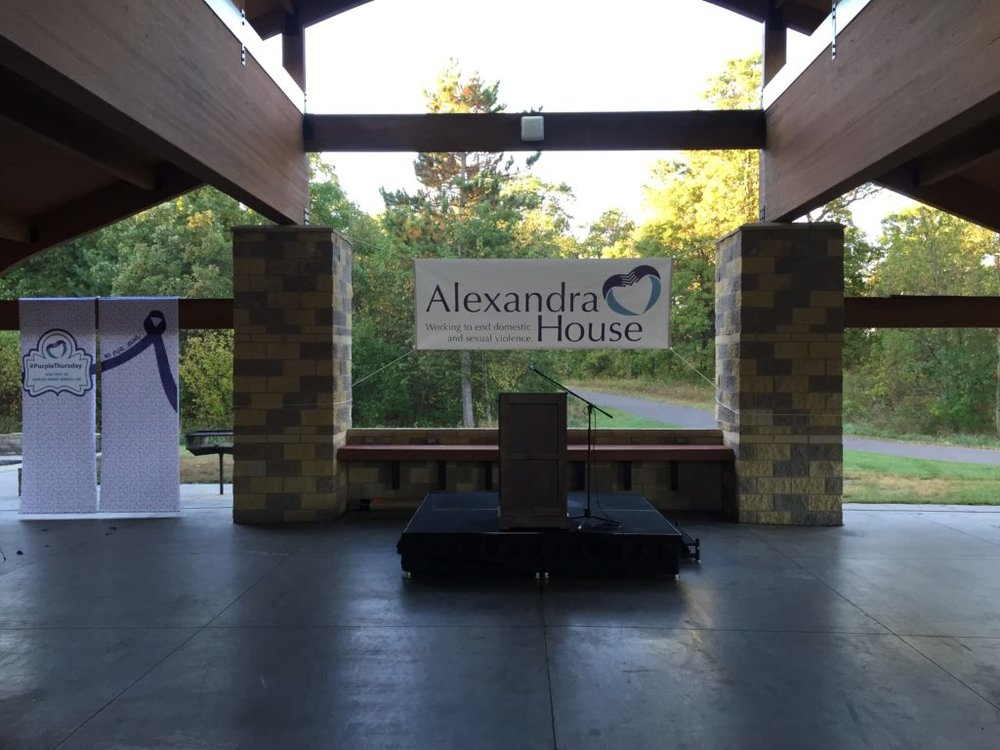 Picture of AV for You set up for a Walk Run Event at Bunker Hills