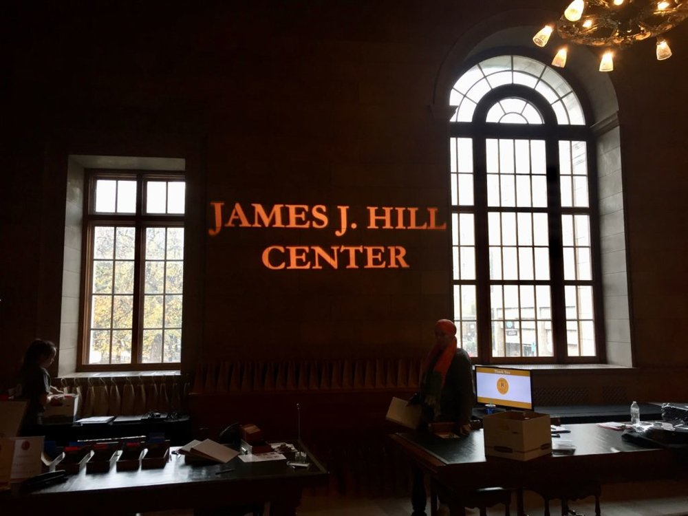 Picture of AV for You set up for a Fundraiser at James J. Hill Center