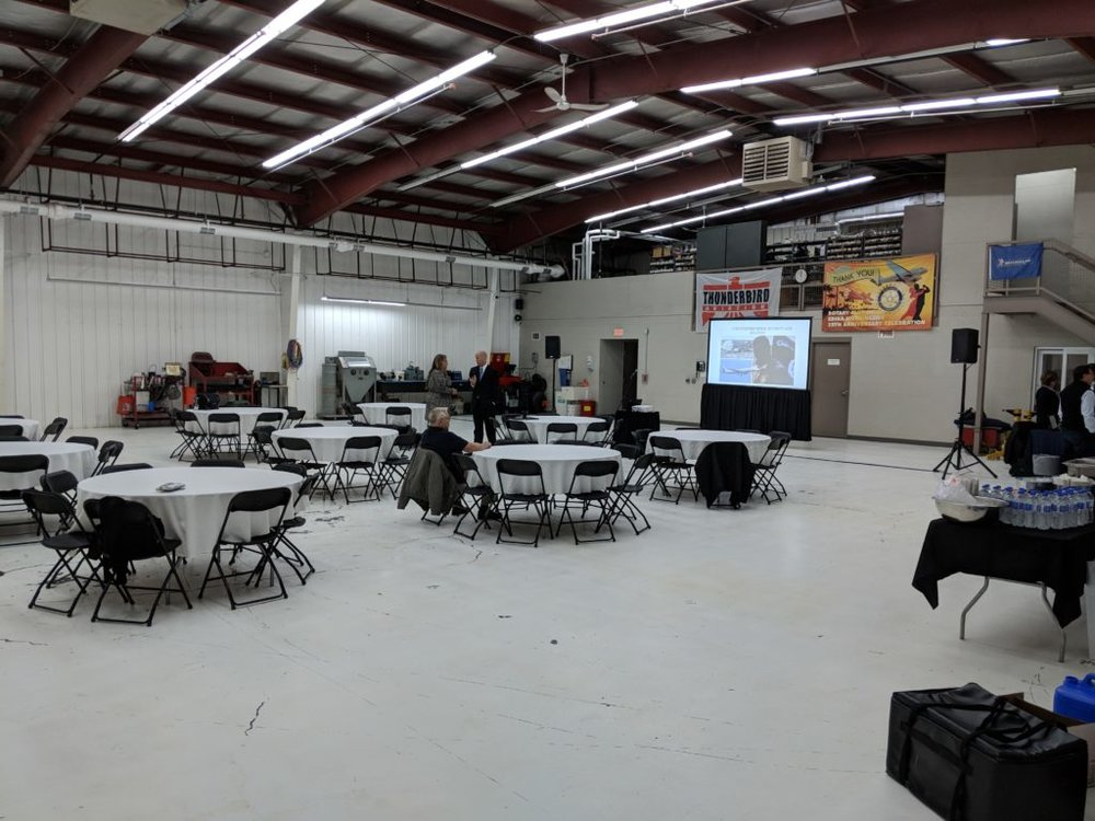 Picture of AV for You set up for an Airplane Hangar Event