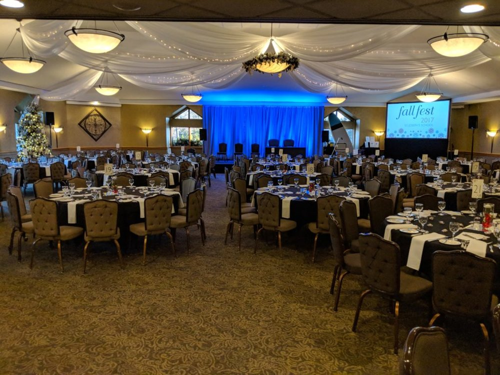 Picture of AV for You set up at Southview Country Club