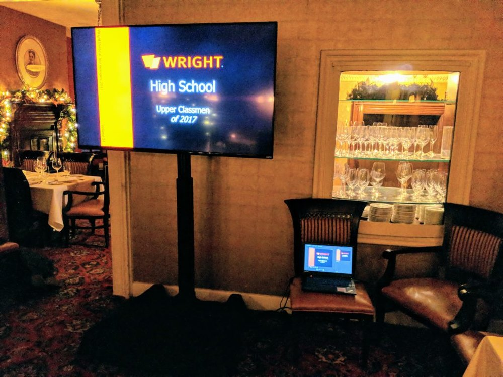 Picture of AV for You monitor at Forepaugh's Restaurant