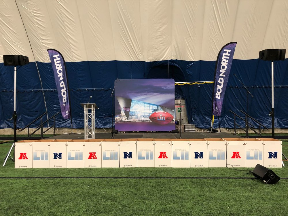 Picture of AV for You set up at Braemar Field.