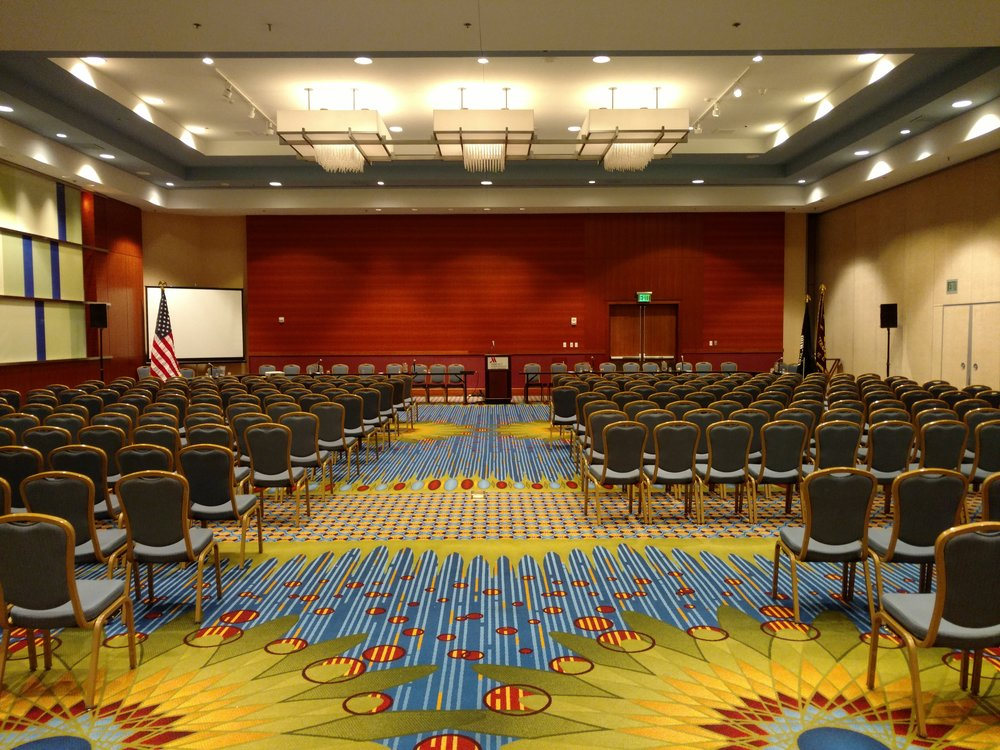 Picture of AV for You set up at the Marriott City Center in Minneapolis, MN