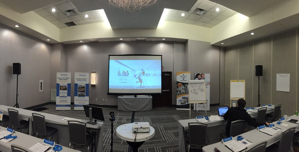Picture of AV for You set up at the Hilton Bloomington