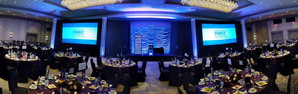 Photo of AV for You set up at the Hilton Minneapolis