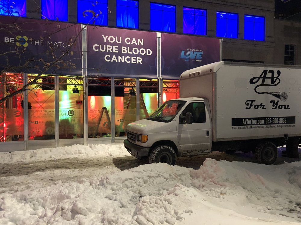 Super Bowl Live Nicollet Mall-Be The Match Tent-Minneapolis