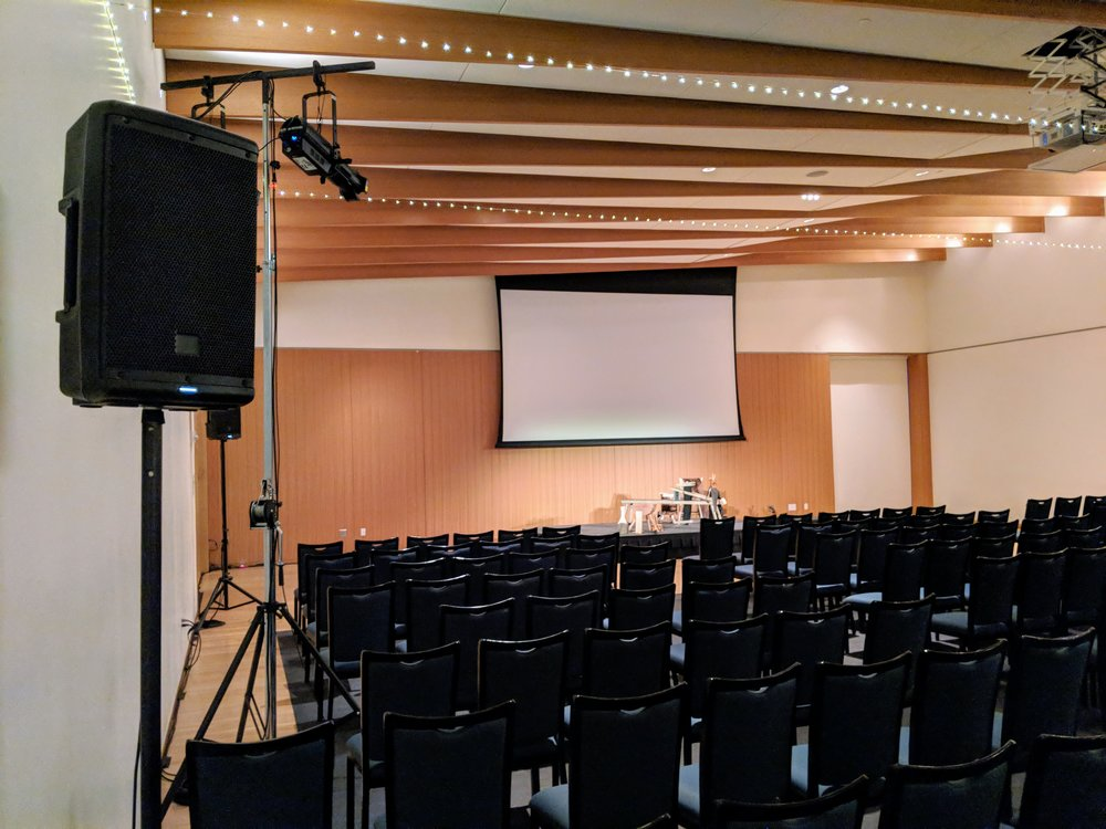 Picture of the AV for You set up at American Swedish Institute.