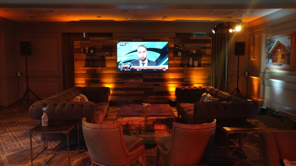 Picture of AV for You uplighting at Hilton Downtown Mpls for Fox Sports