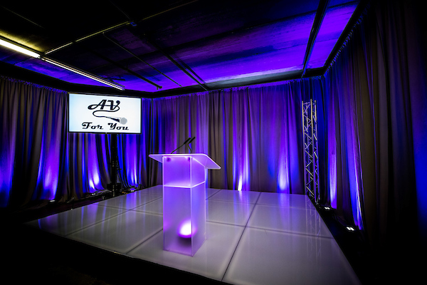 Picture of AV for You uplighting set up available to rent