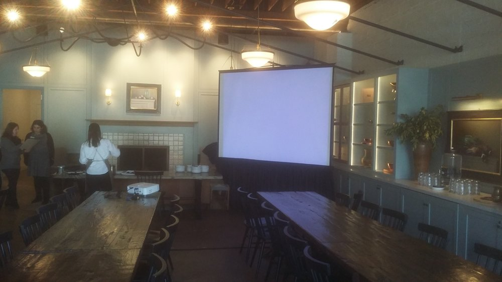 Picture of AV for You projector and screen rental at The Lynhall in Minneapolis