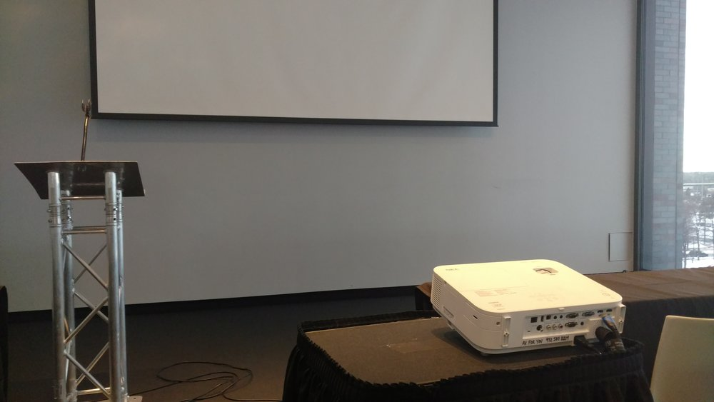 Picture of AV for You projector, mic and podium rental at the Walker Art Center in Minneapolis