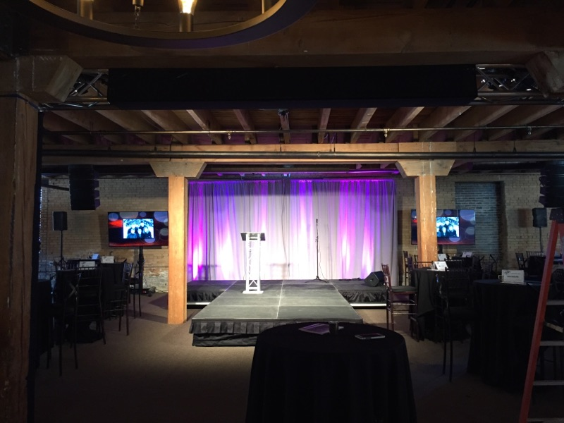 Picture of AV for You lighting and staging rental at the Minneapolis Event Center