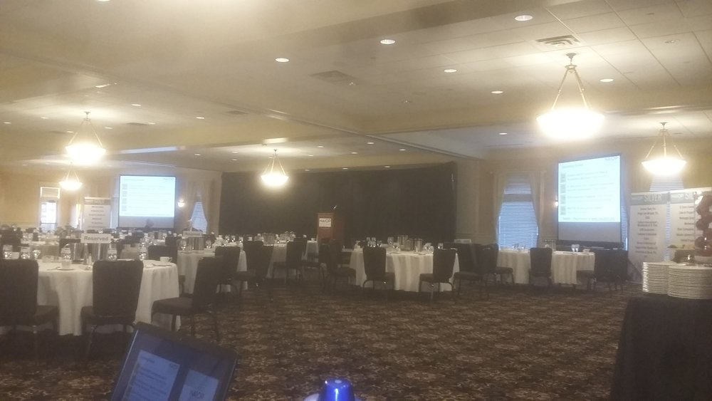 Picture of AV for You rental at the Golden Valley Golf and Country club for NAIOP & Microphone and Drapery Rental at the Golden Valley Golf and Country ...