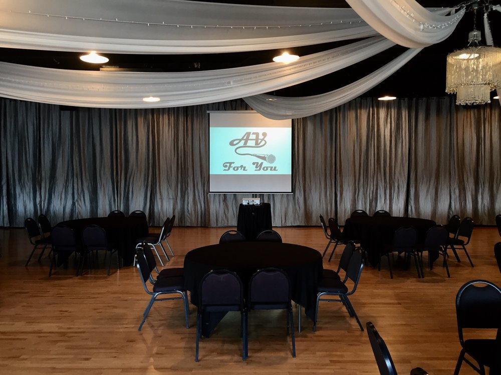 Picture of AV for You projector rental at the Midpointe Event Center