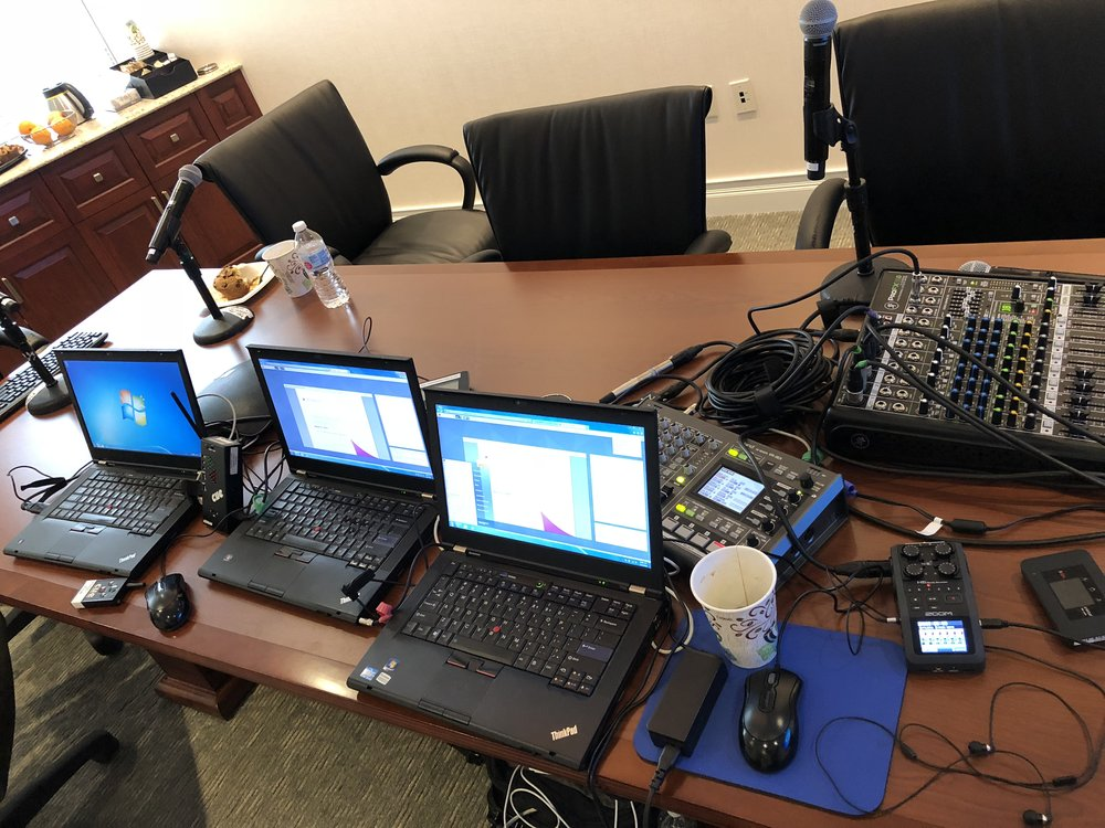 Picture of AV for You rental equipment at Parametric for a webcast