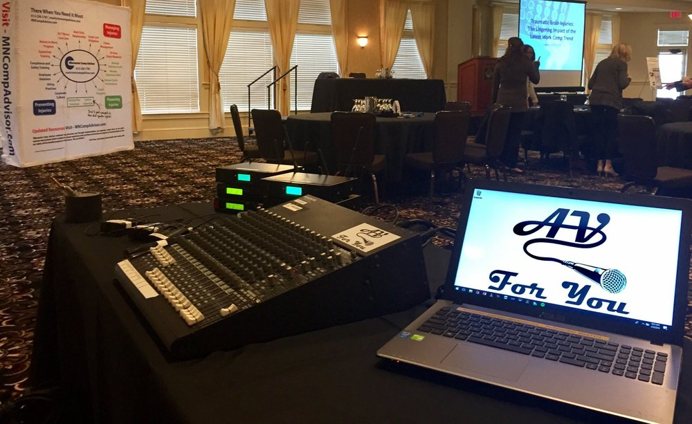 Picture of AV for You microphone rental at Golden Valley Golf and Country Club