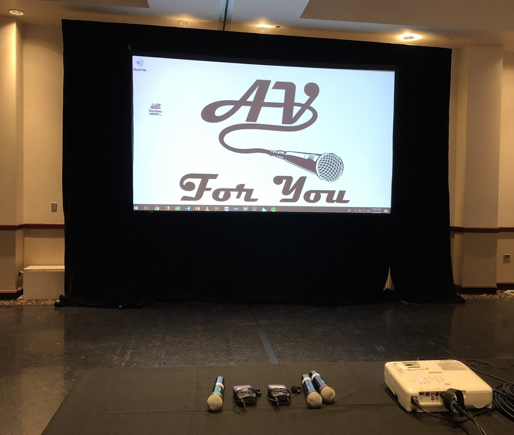 Picture of AV for You Projector Screen and Microphone rental at The Mermaid in Mounds View