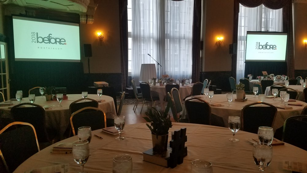 Picture of AV for You projector and screen rental for a conference at Hotel 340 in St Paul