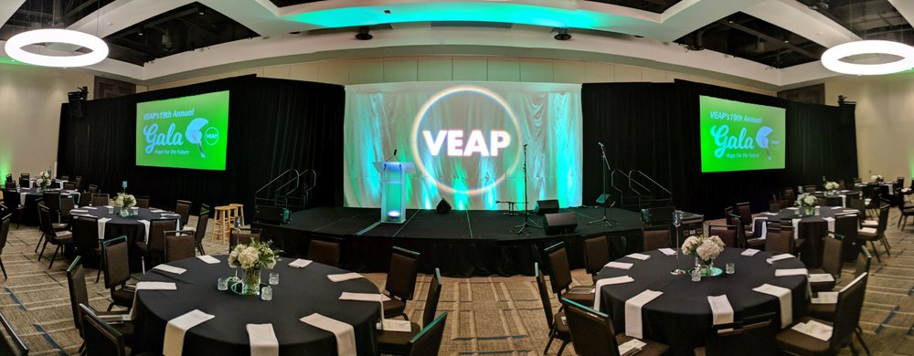 Picture of AV for You projector and screen rental for the annual VEAP gala
