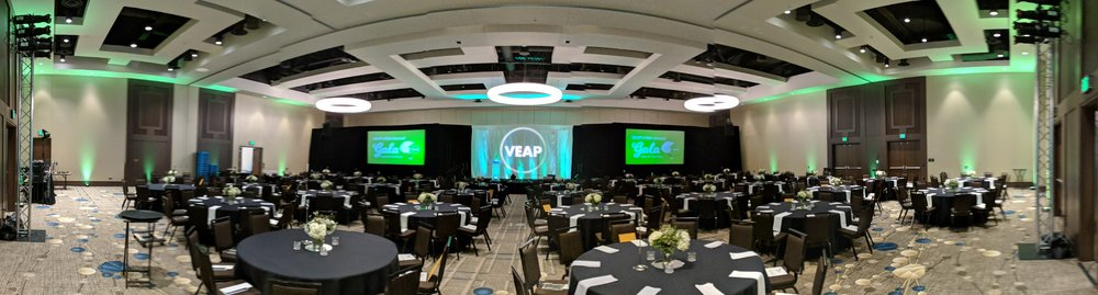 Picture of AV for You lighting rental equipment for the annual VEAP gala