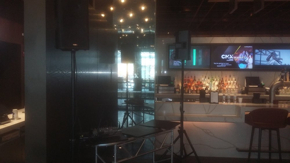 Picture of AV for You DJ equipment rental at CMX Theater Grand Opening in Mall of America
