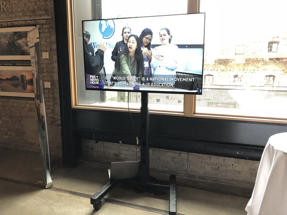 Picture of AV for You TV rental at the Mill City Museum in Mpls, MN