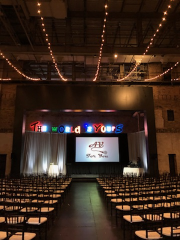 Picture of AV for You screen, drape and lighting rental in Minneapolis