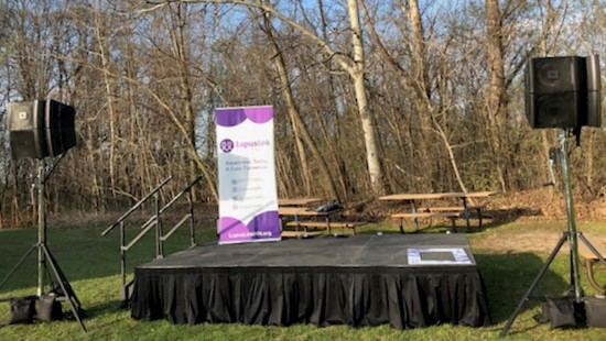 Picture of AV for You audio and staging rental for Lupus Link Fundraiser Walk & 5k Run