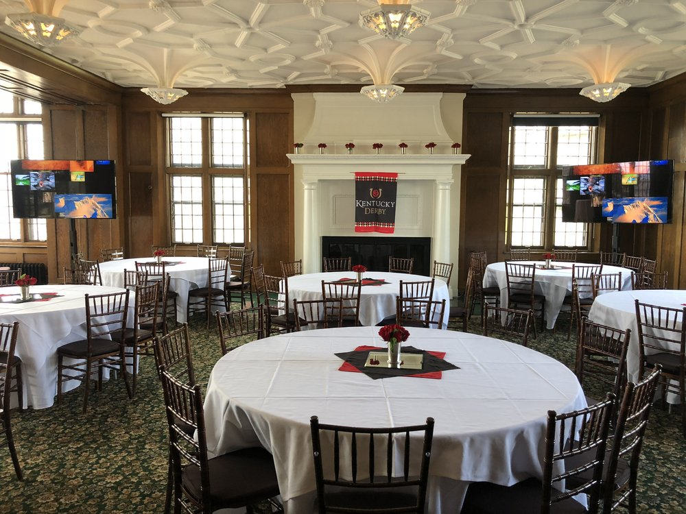 Picture of AV for You TV rental for the Kentucky Derby at the University Club of St Paul
