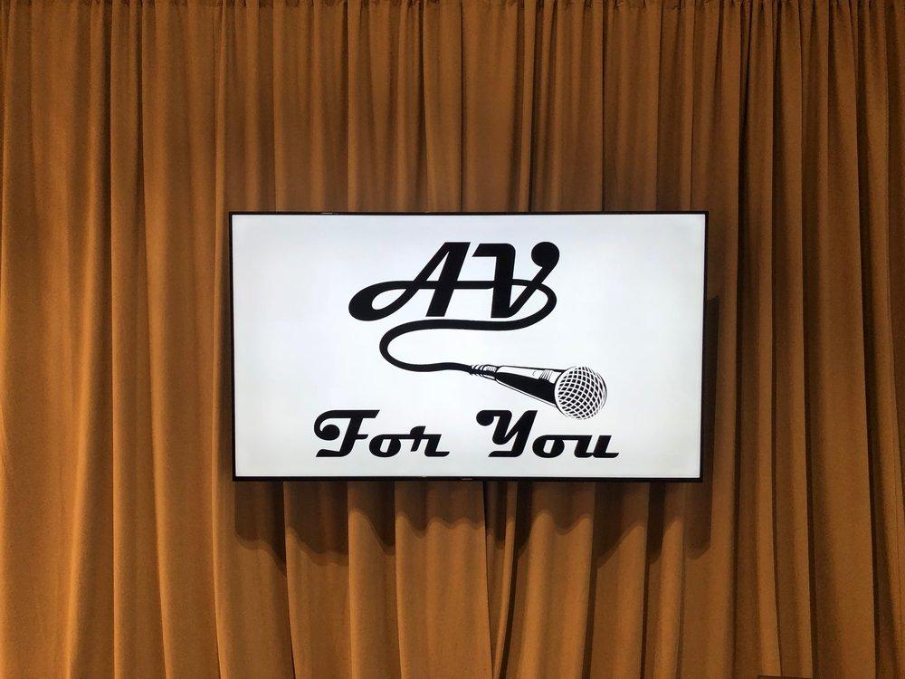 Picture of AV for You TV rental using drape for float-in effect