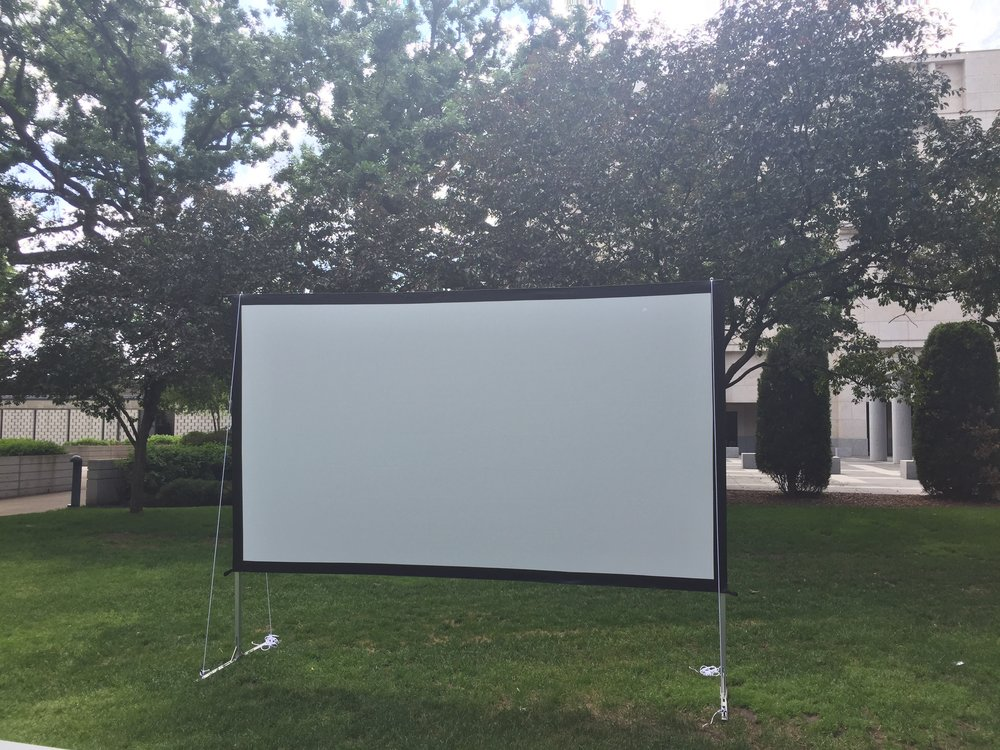 Picture of AV for You outdoor movie screen rental at Minneapolis Institute of Art