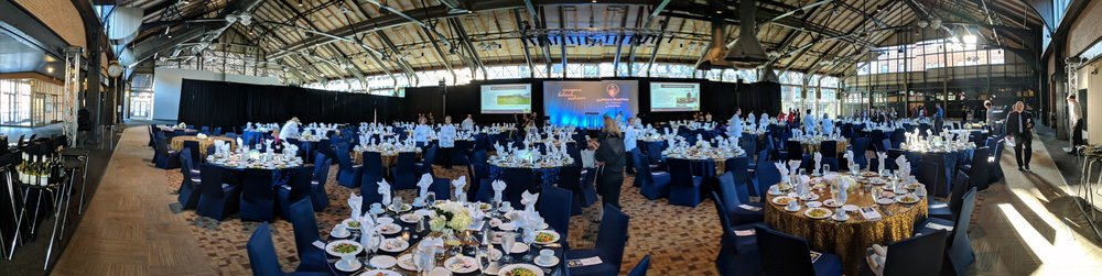 Picture of AV for You rental equipment for the Shriners Fundraiser Gala at the Depot